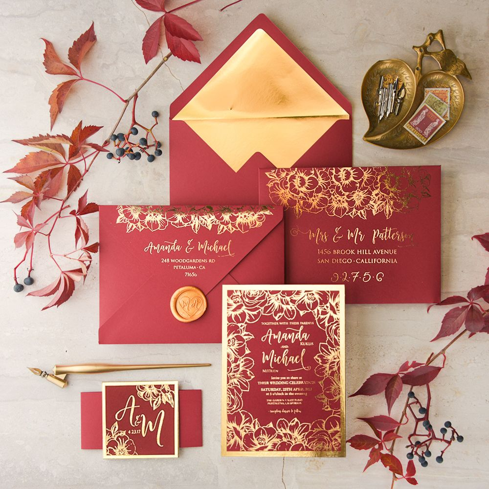 WEDDING INVITATIONS glitter | Pinterest | Wedding, Red gold weddings ...