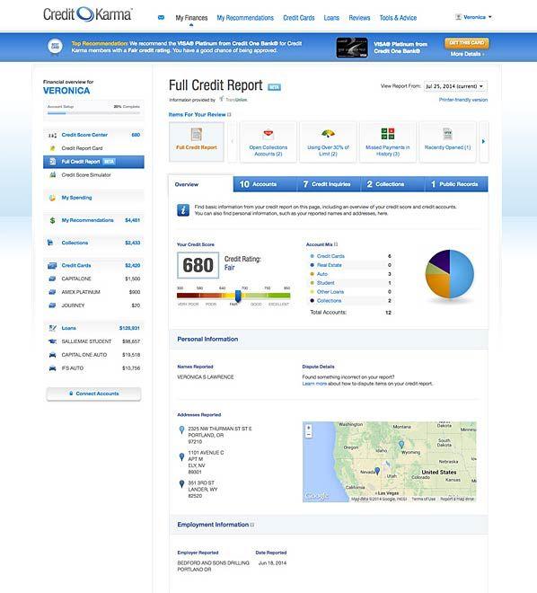 New Grab Your Free Credit Report At Credit Karma Credit Karma