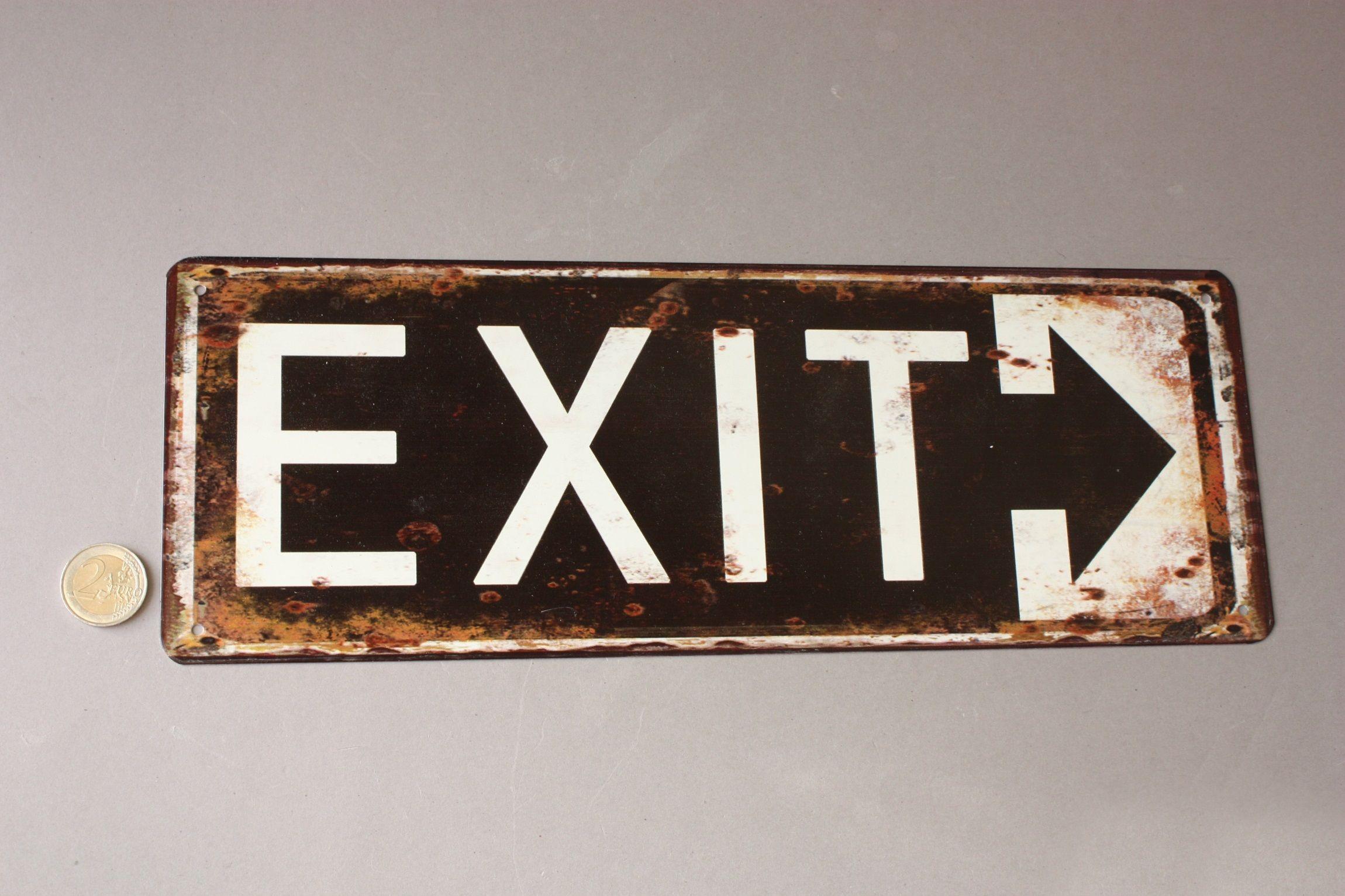 Exit Pfeil Schild Turschild Arrow Door Sign Turschilder