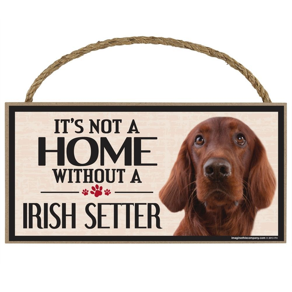 It's Not a Home Without a Irish Setter Wood Sign