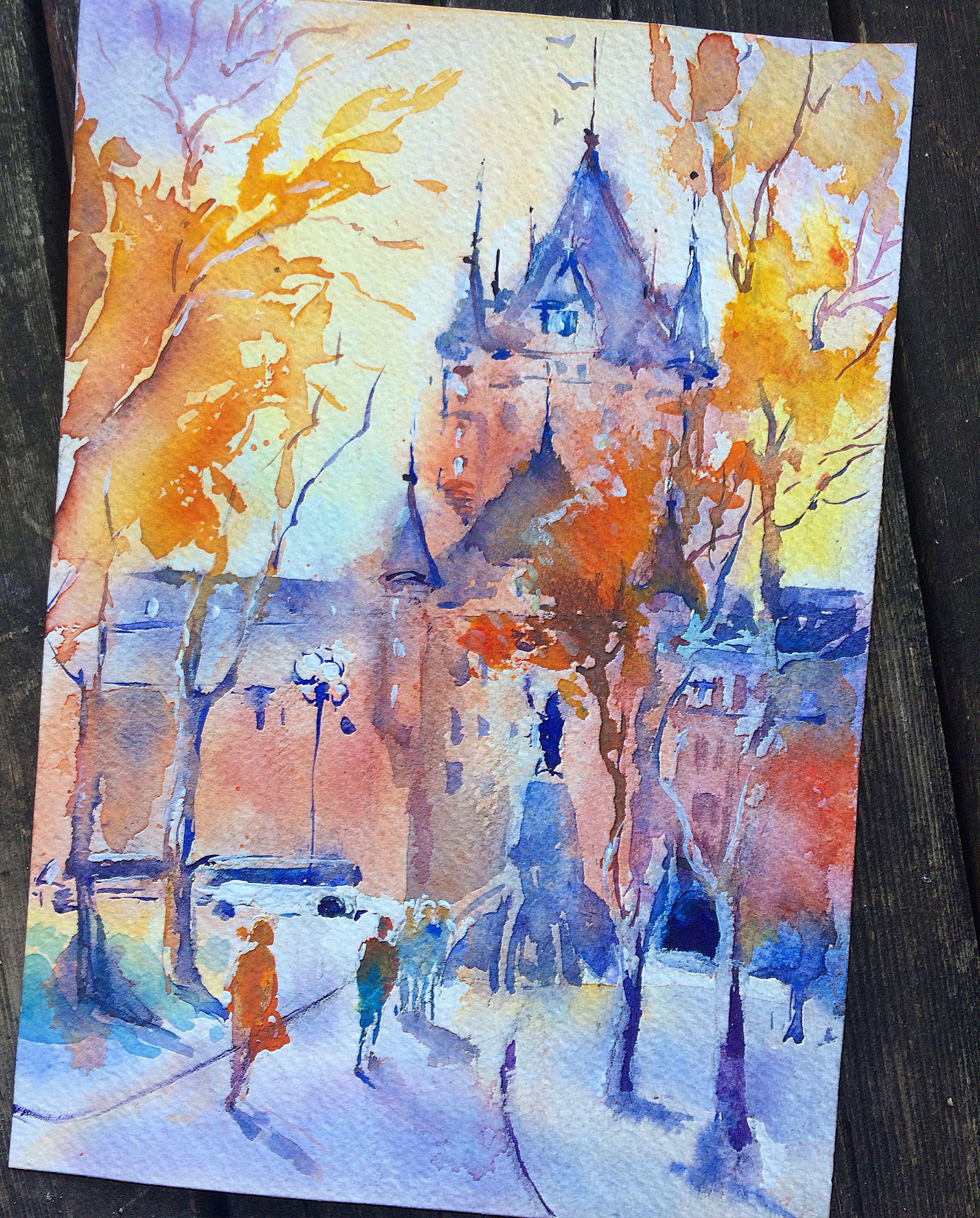 Art Quebec Watercolor Watercolorpainting Aquarelle Landscape