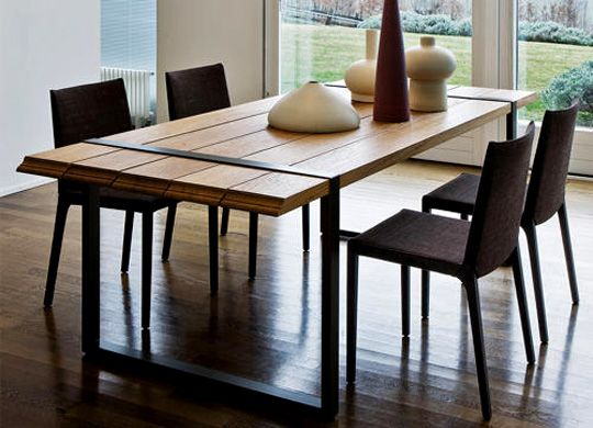 5 Modern Wood Kitchen Table Homedepotpw Inside Modern Wood Dining ...