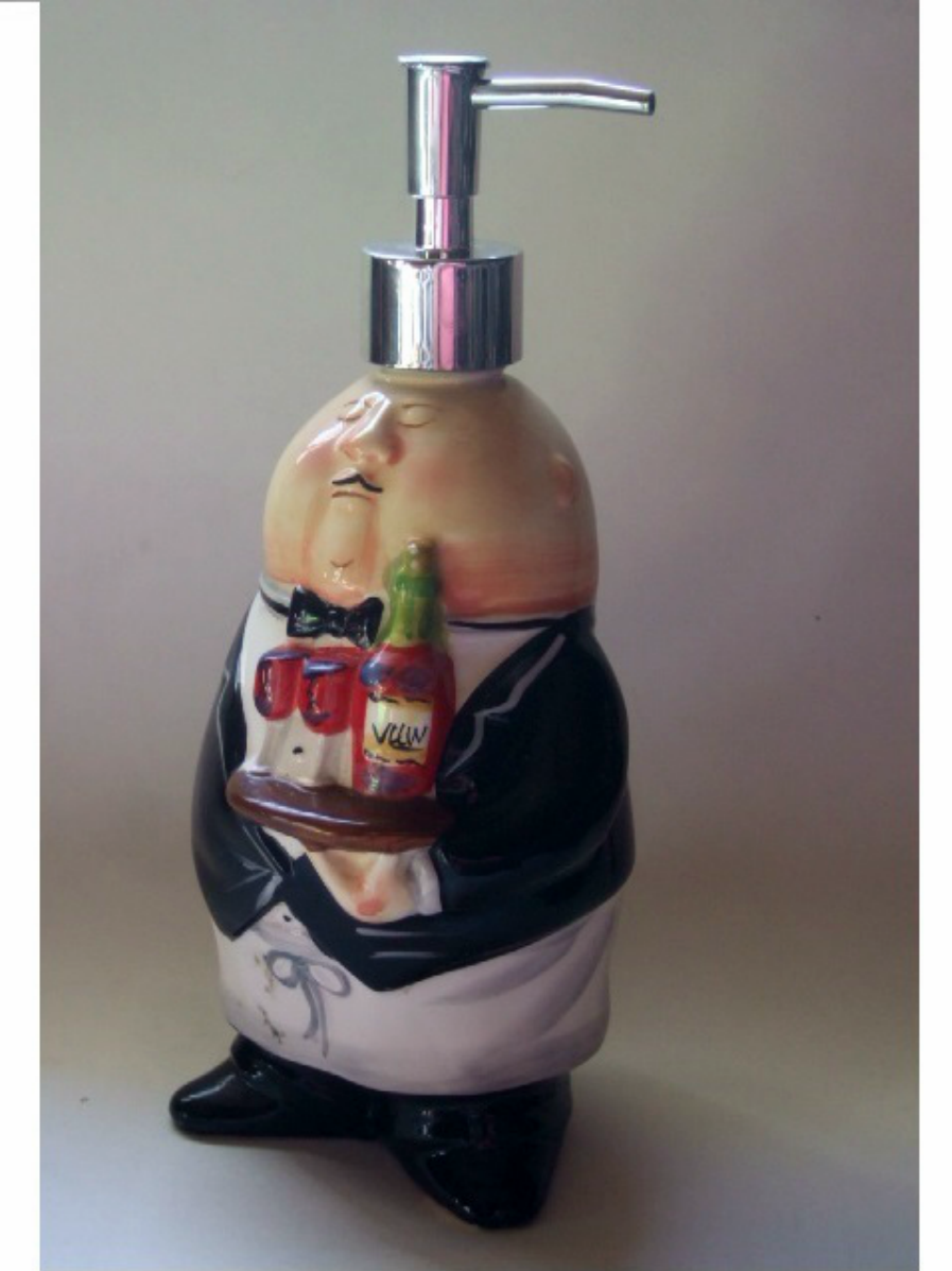 Fat Chef Waiter Lotion Pump Soap Dispenser Add Humor To Your Kitchen With This Robust Waiter Or