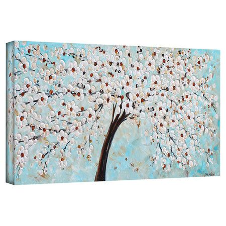 Add serene style to your dining room or master suite with this lovely canvas print, depicting a flowering tree.  Product: Canvas...