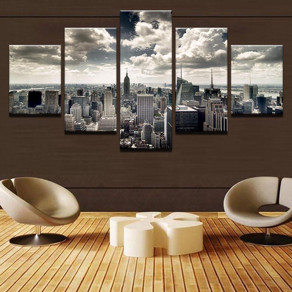 Barato Arte Da Parede Da Lona Imprime Hd Pictures Sala 5 Pe As New  -> Arte Parede Sala