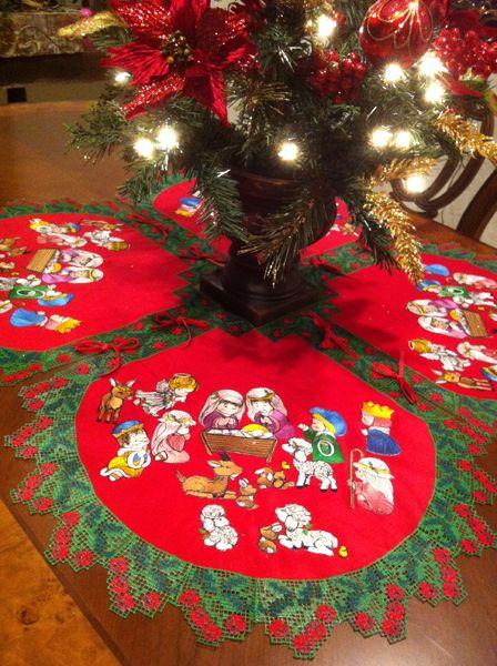 Christmas Tree Skirt 4x4 Machine Embroidery Christmas Christmas Tree Skirt Machine Embroidery Designs