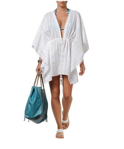 White Embroidered Kaftan #style #beachwear
