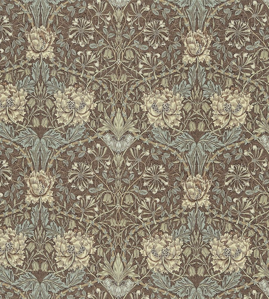 Morris & Co Honeysuckle & Tulip Fabric Bullrush