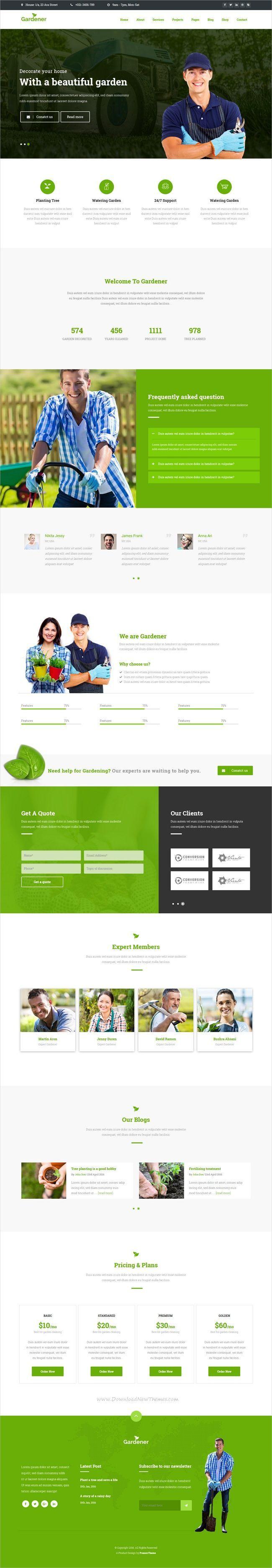 Gardener – Gardening and Landscaping HTML Template   Garden ... on garden park logos, garden club logos, garden logos design, garden nursery logos,