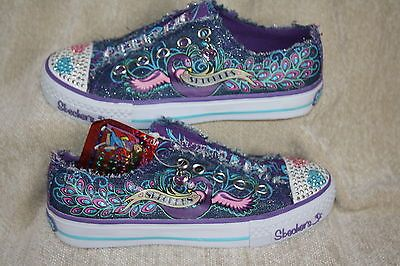Girls Skechers Twinkle Toes Peacock Slip On Shoes Multiple Sizes
