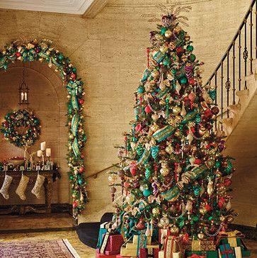 Jewel tone Christmas tree | Christmas tree decorations ...