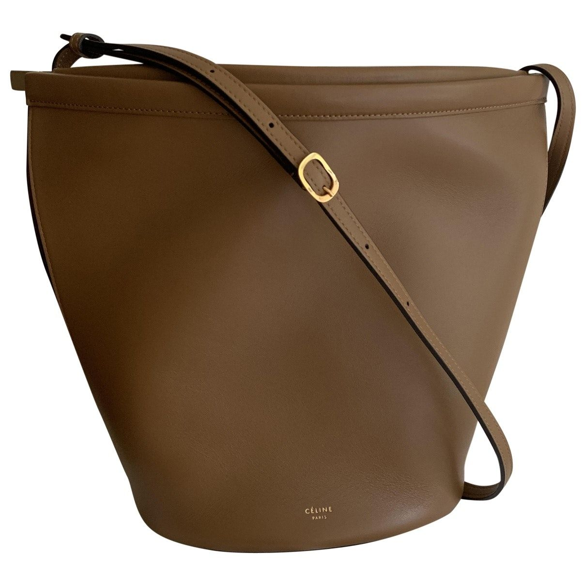 Old Celine In Clasp Bucket By Phoebe Last Collection Very Rare Light Color And Last Chance In Here Never In 2020 Leather Crossbody Bag Purses Crossbody Crossbody Bag