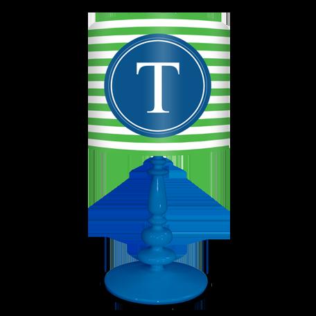 Elegant Blue and Green Lamp Shade