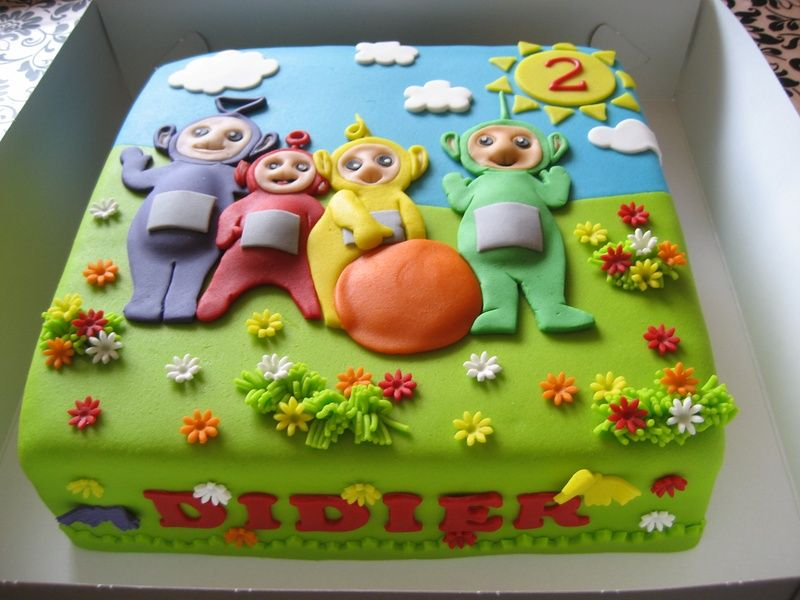 Teletubbies Happy Birthday Cake