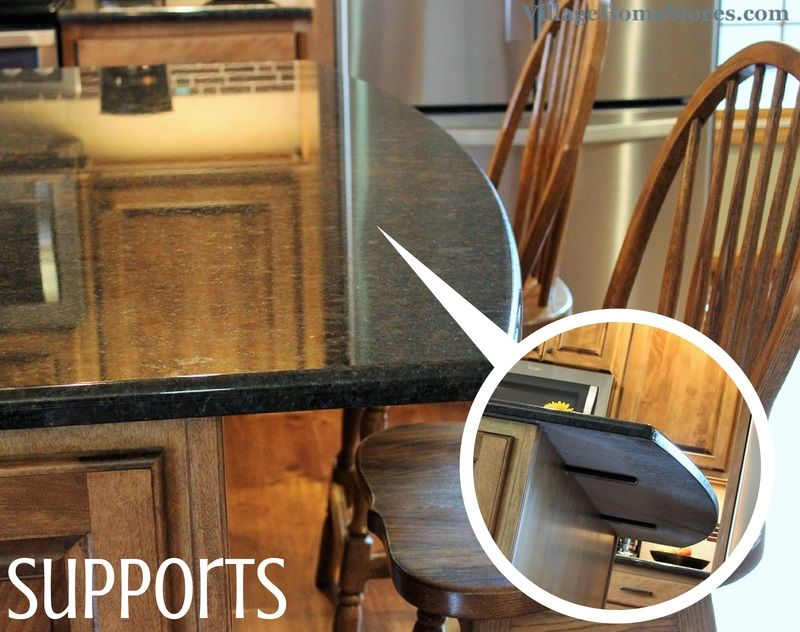 If your granite or quartz countertops have an overhang How to support granite overhang