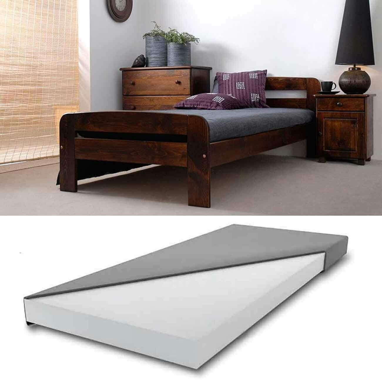 Bett Mit Matratze In 2020 Bett Mit Lattenrost Holzbetten Bett Matratze