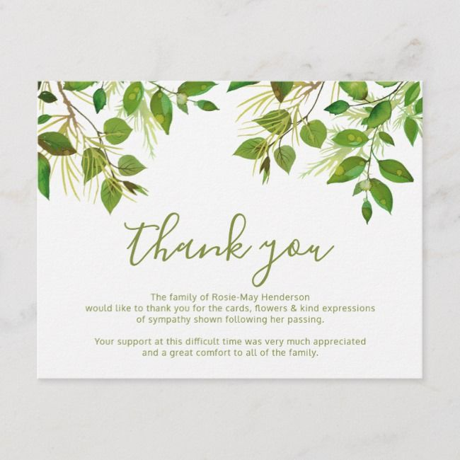 Wedding Thank You Card Wording For Money: Funeral Thank You Note