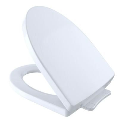 Toto Soiree Softclose Elongated Closed Front Toilet Seat In Cotton White Ss214 01 New Toilet Plastic Hinges Toilet Design