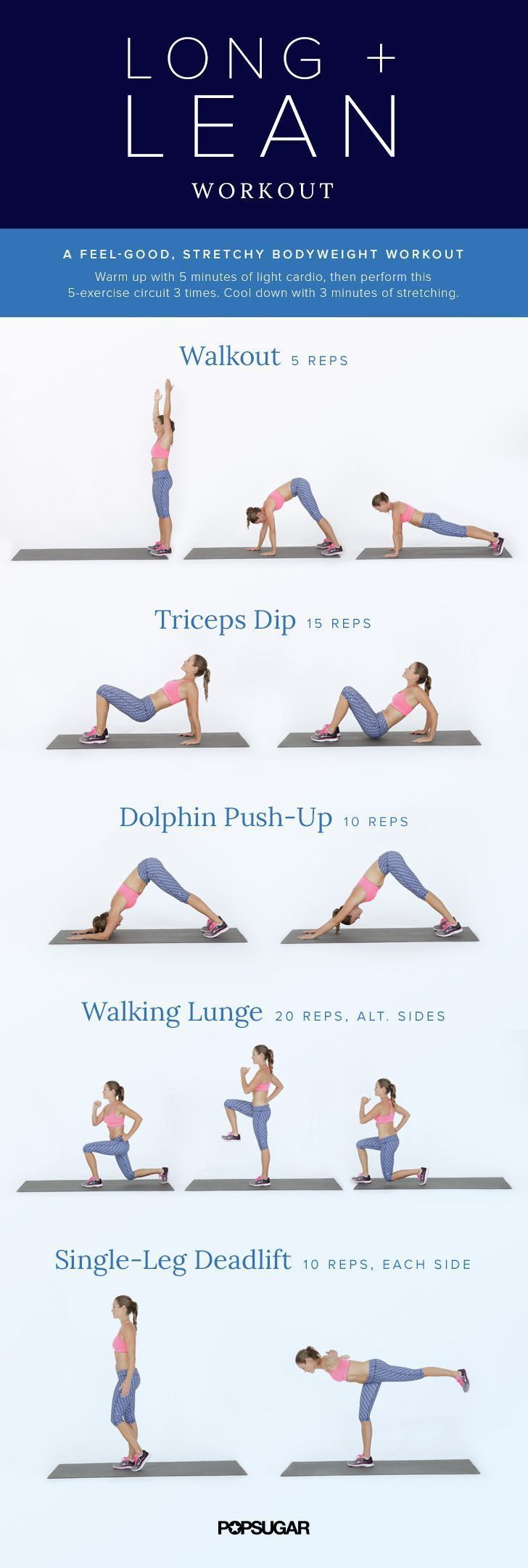 13 Printable No-Equipment At-Home Workouts to Try Now #fitness #exercises