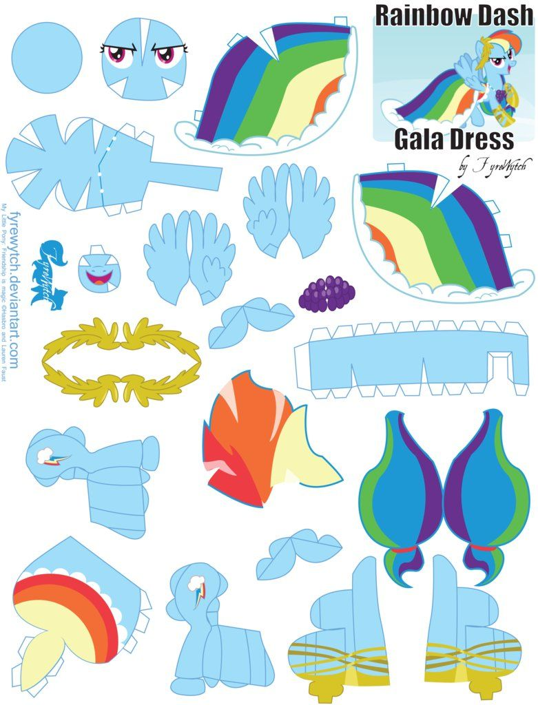 Rainbow Dash Gala Printout By Fyrewytch On Deviantart Paper Dolls