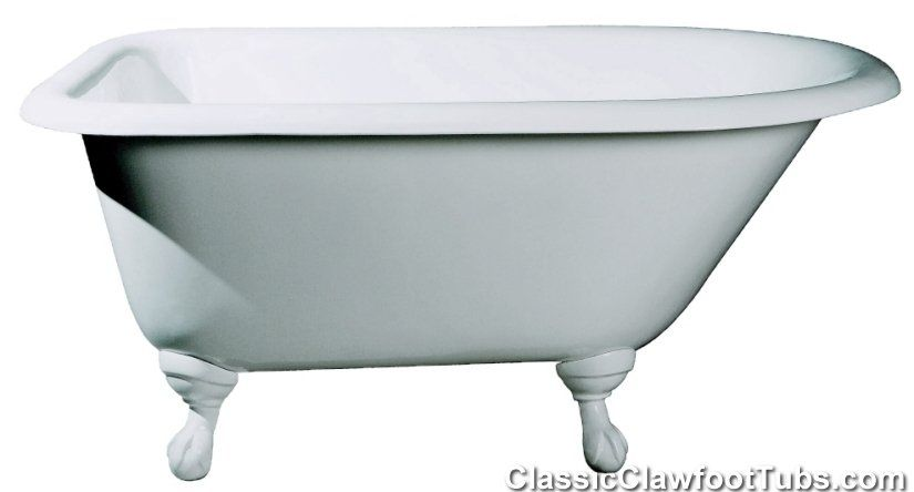 48 Rolled Rim Cast Iron Clawfoot Tub With Images Clawfoot Tub
