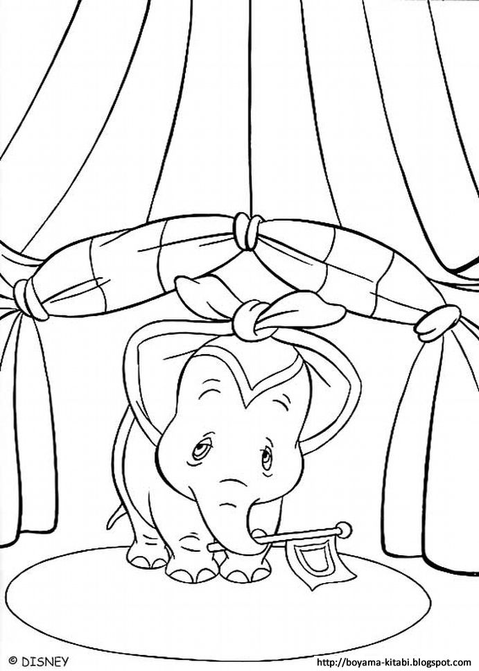 Ucan Fil Bumbo Boyama Dumbo Coloring 01 Flag Coloring Pages