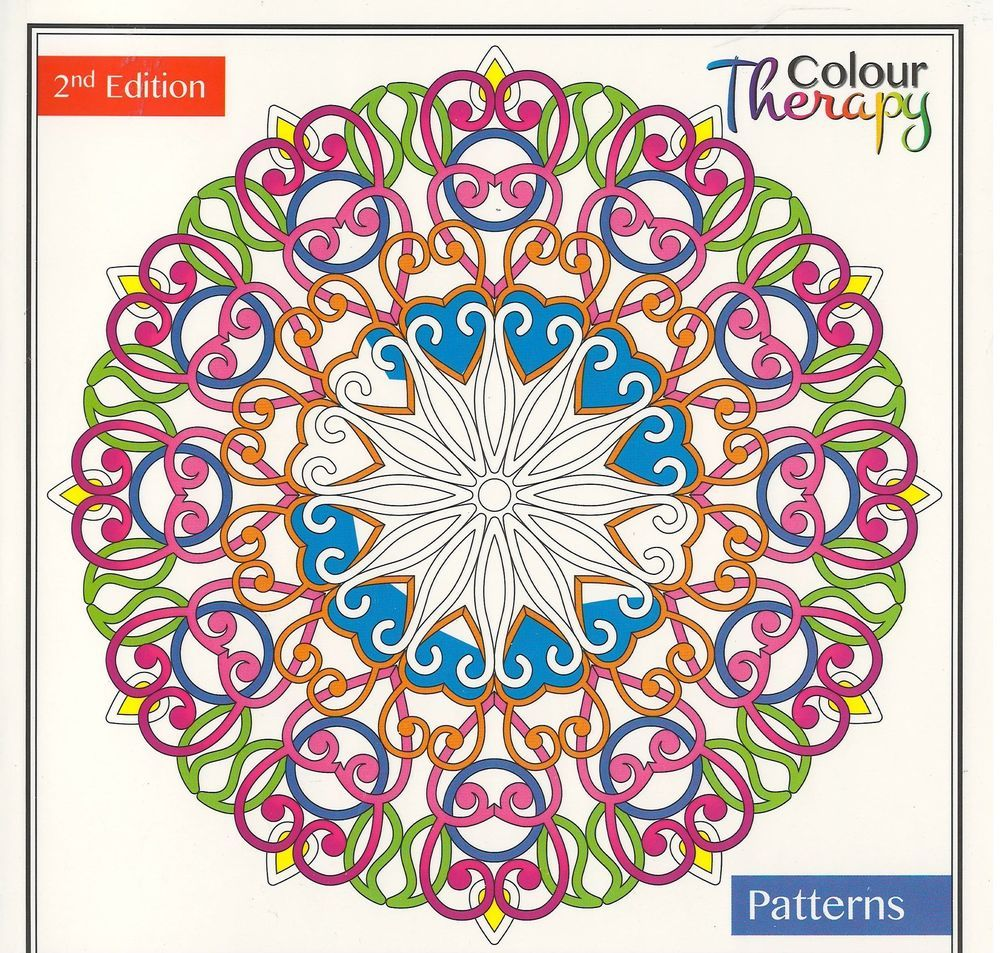 Colour therapy books for adults - Details About Colour Therapy Anti Stress Adult Colouring Books 30 Pages Zenart Pattern Floral