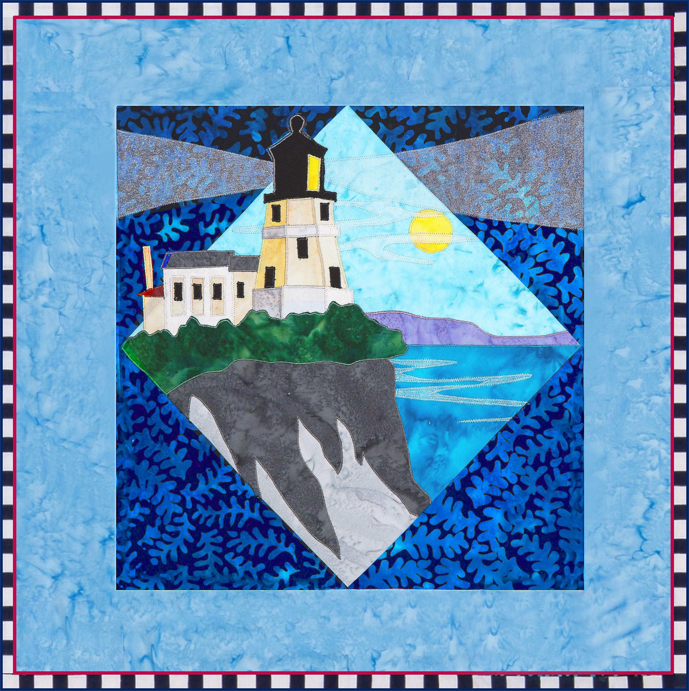 Split Rock Lighthouse Quilt Pattern By Debra Gabel Of Zebra