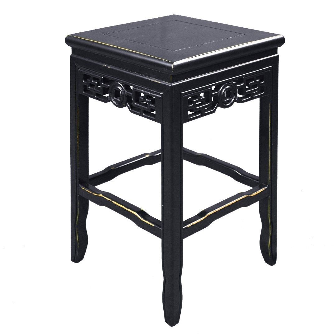 This Asian Inspired side table will match a variety of decor styles.