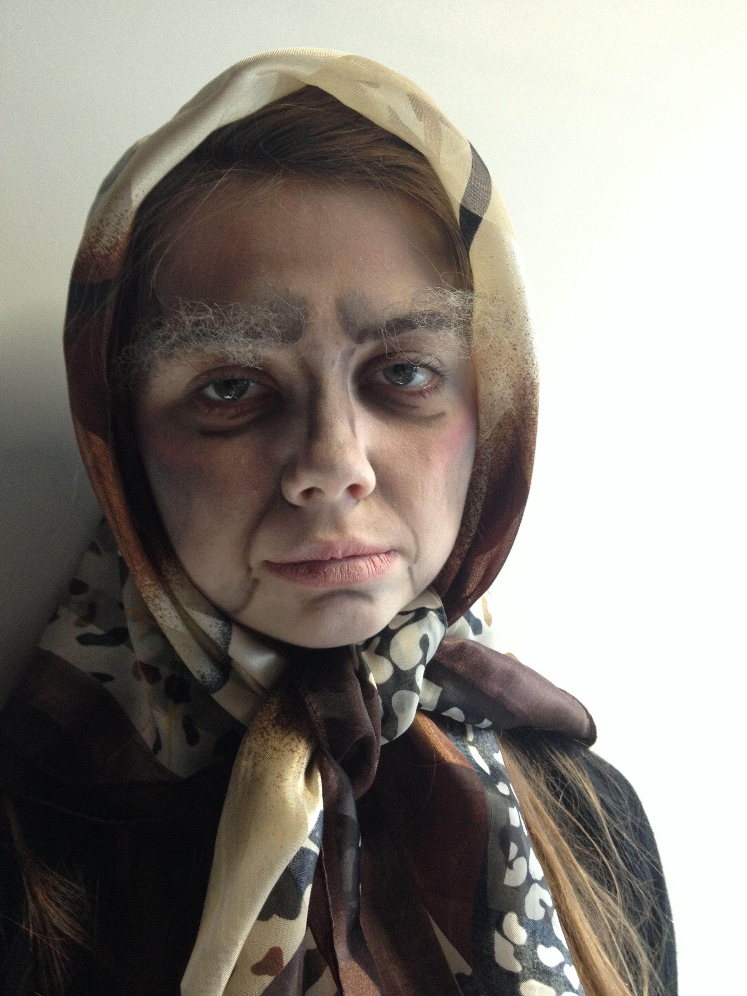 My Old Age Makeup!! MUA- Izzi Oliver, Model- Chloe Palser
