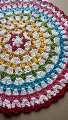 GRANNY CIRCULAR - Must try for beginners in crochet