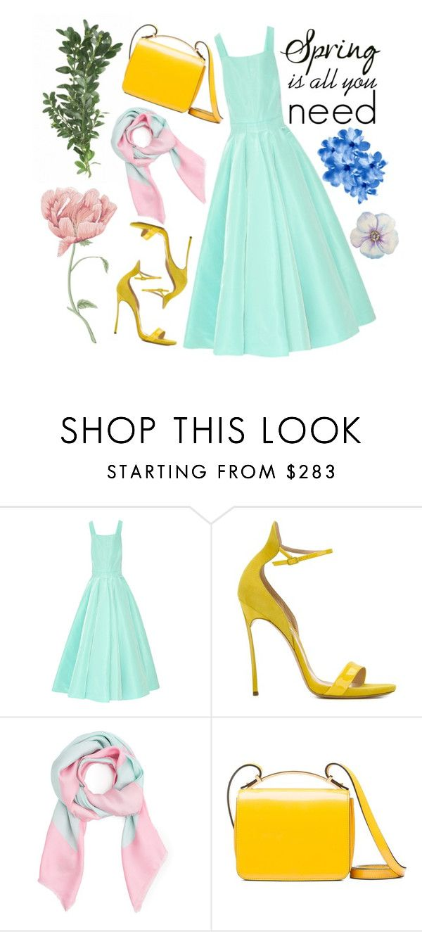 """Spring magic"" by cristiana-m on Polyvore featuring Oscar de la Renta, Casadei, Balenciaga, Marni, men's fashion and menswear"