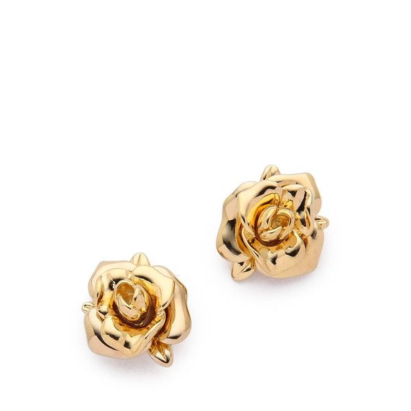 Marc By Marc Jacobs Jerrie Rose Metal Stud Earrings Oro Stud Earrings Marc Jacobs Earrings Rose Gold Charms