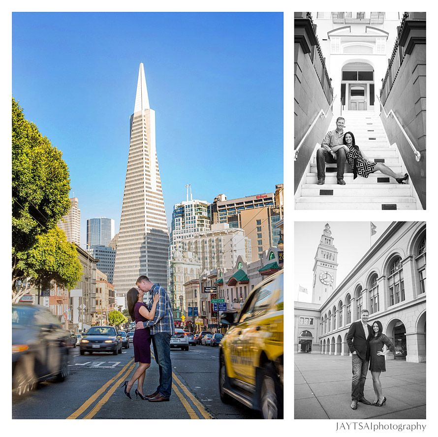 Beach Wedding Venues San Francisco Bay Area Engagement Transamerica Tower