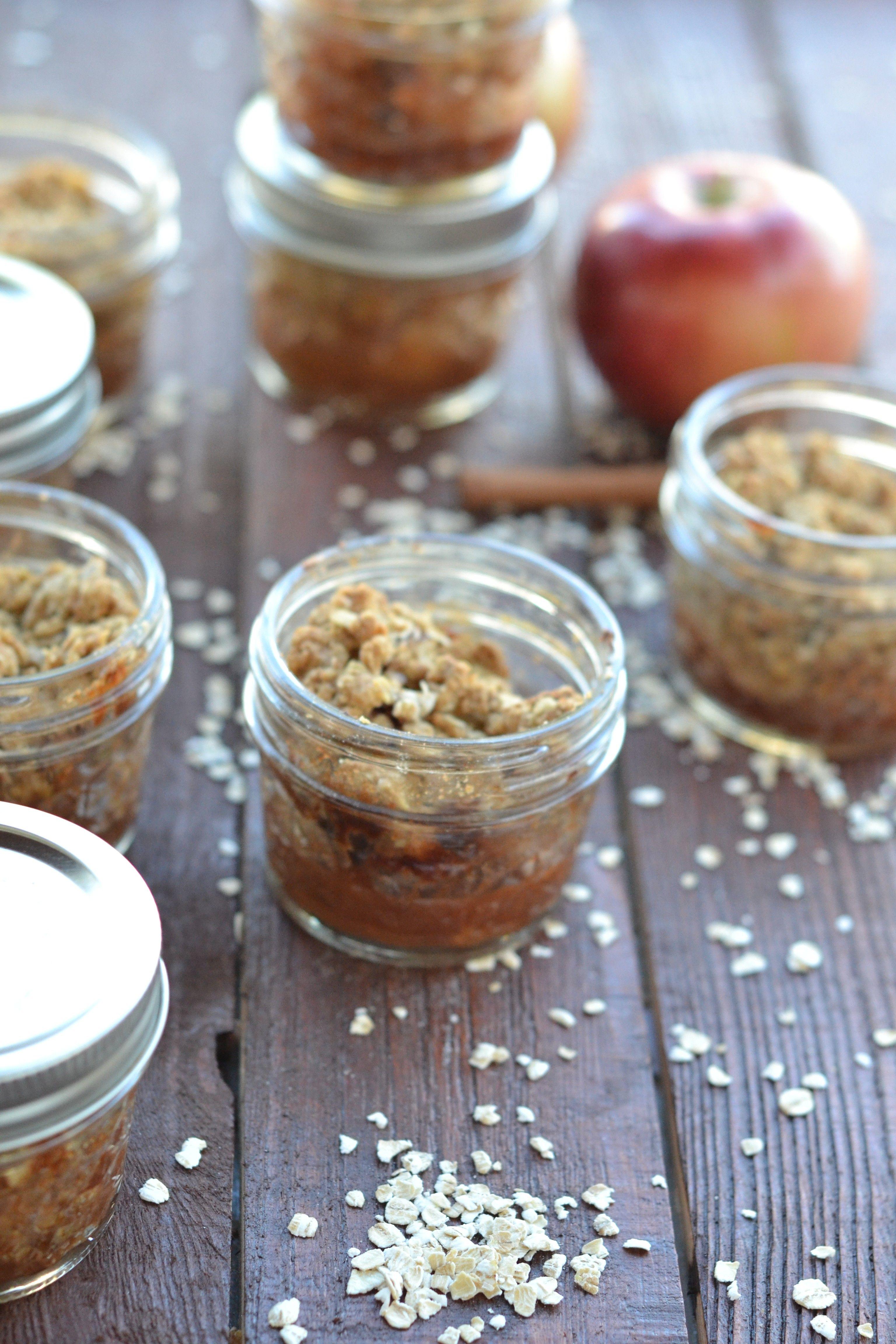Fall Time Apple Crisp In A Mason Jar