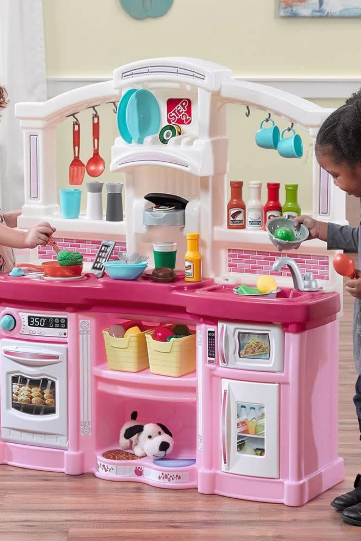 Fun Toys For Kids Pink Kids Kitchen Play Set 45 Pc Kitchen Accessories Set Toy Storage Kids Room Bedroom For Girls Kids Baby Toy Storage