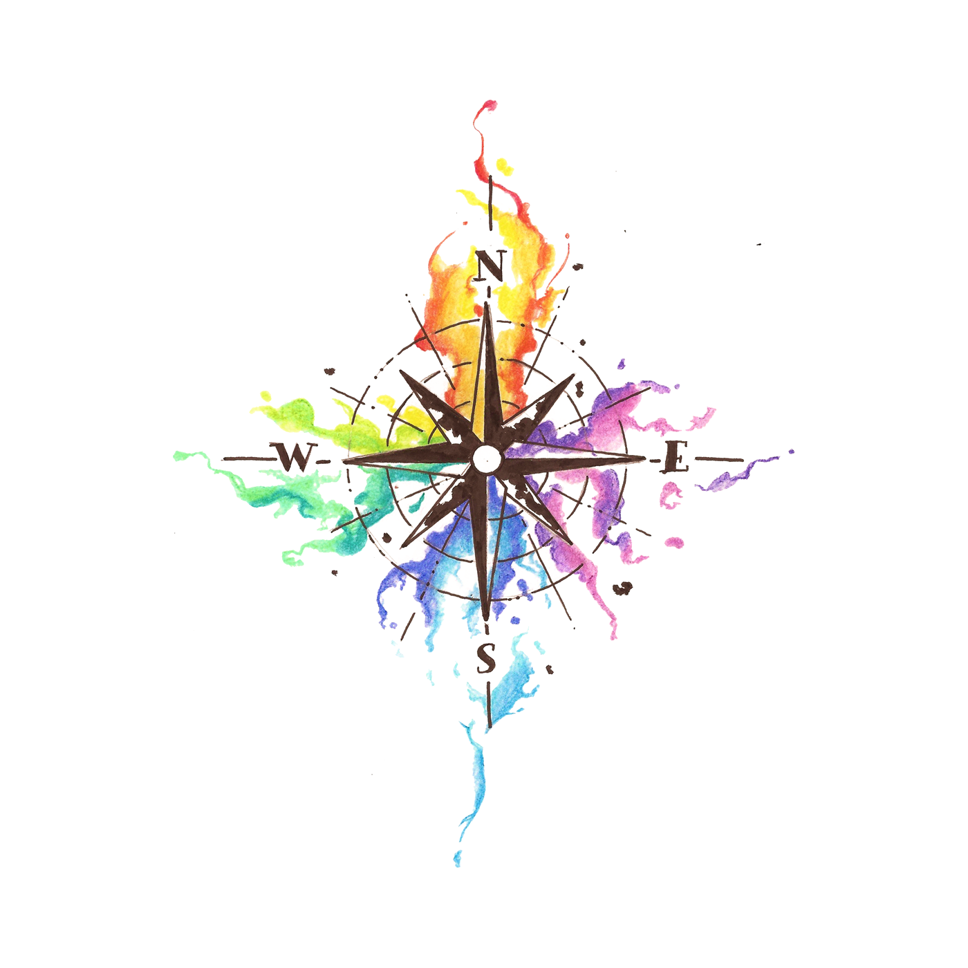 2be97d9e3 Find Your Way | Products | Watercolor compass tattoo, Compass tattoo ...