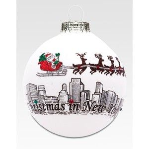 Heart Gifts Christmas In New York Ornament