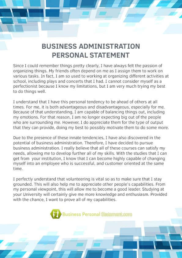 Business Personal Statement Samples (businesspersona) on Pinterest - statement template