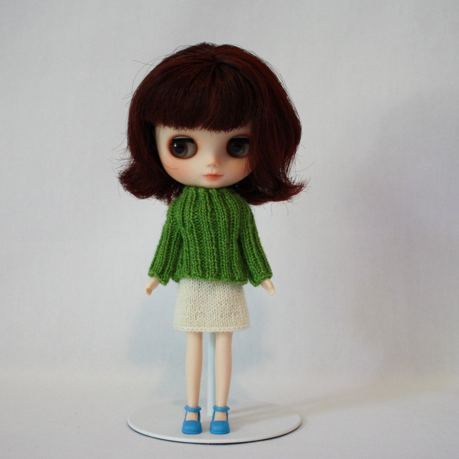 Middie Blythe doll Kim Sweater knitting PATTERN - ribbed pull over ...