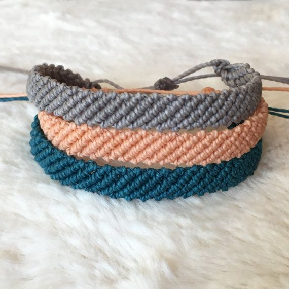 Custom Pura Vida Style Bracelets Flat Braided Solid Color Friendship By Wristsare4bracelets On Etsy