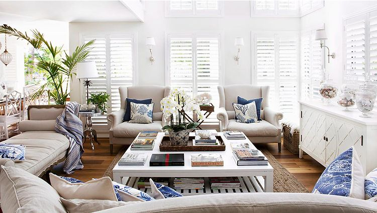 yachtclub chic decoration pinterest hamptons style homes the hamptons and living room. Black Bedroom Furniture Sets. Home Design Ideas