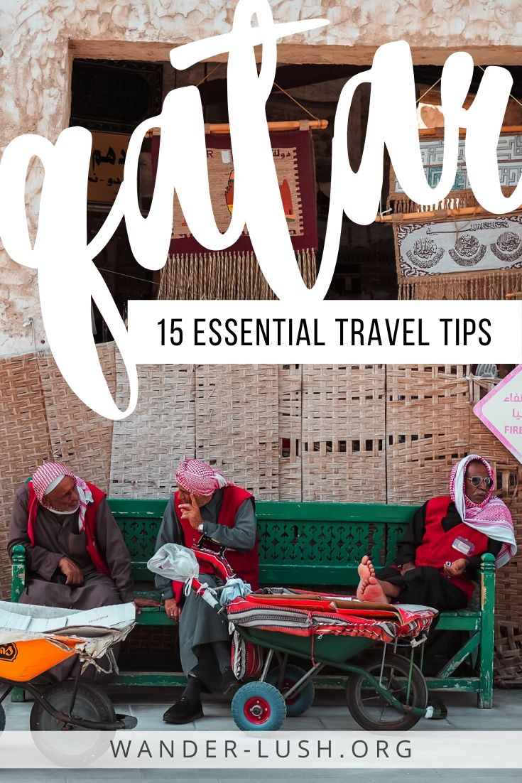 Considering a stopover in Doha? This list of 15 incredibly useful Qatar travel tips covers everything from dress code and rules for couples, to budgeting, and how to move around the city. #Doha #Qatar | Qatar travel advice | Doha travel guide | Doha layover