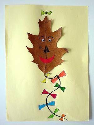 Drachen basteln aus blatt basteln mit kindern backen for Herbstdeko drachen