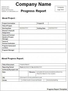 Progress Report Template | Forms for Office ETC | Pinterest ...
