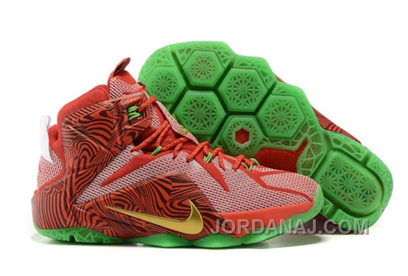 Nike NikeiD Lebron James 12 Sprite Mens Shoes Red Green