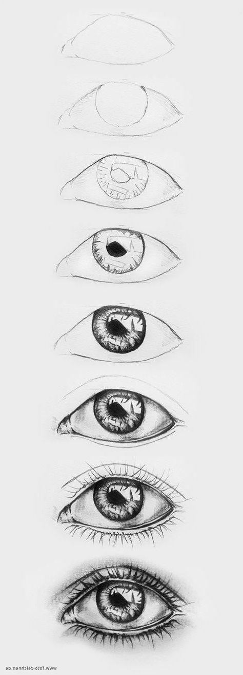 Augen zeichnen - Schrittgeschwindigkeit zum Besten von Schrittgeschwindigkeit  - Face Drawing #pencildrawingtutorials