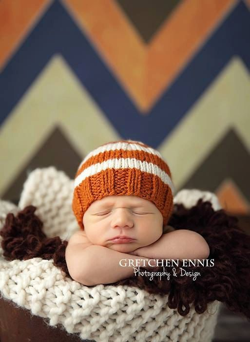 Perfect fit newborn beanie orange spice cream white by zellashop 18 00