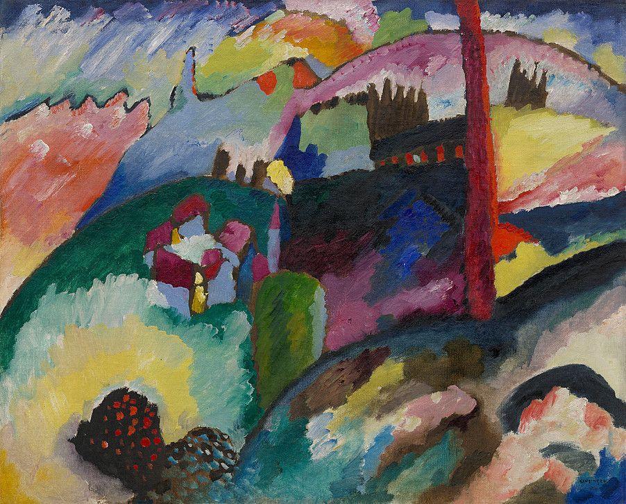 Collection Online | Vasily Kandinsky. Landscape with Factory Chimney. 1910 - Guggenheim Museum