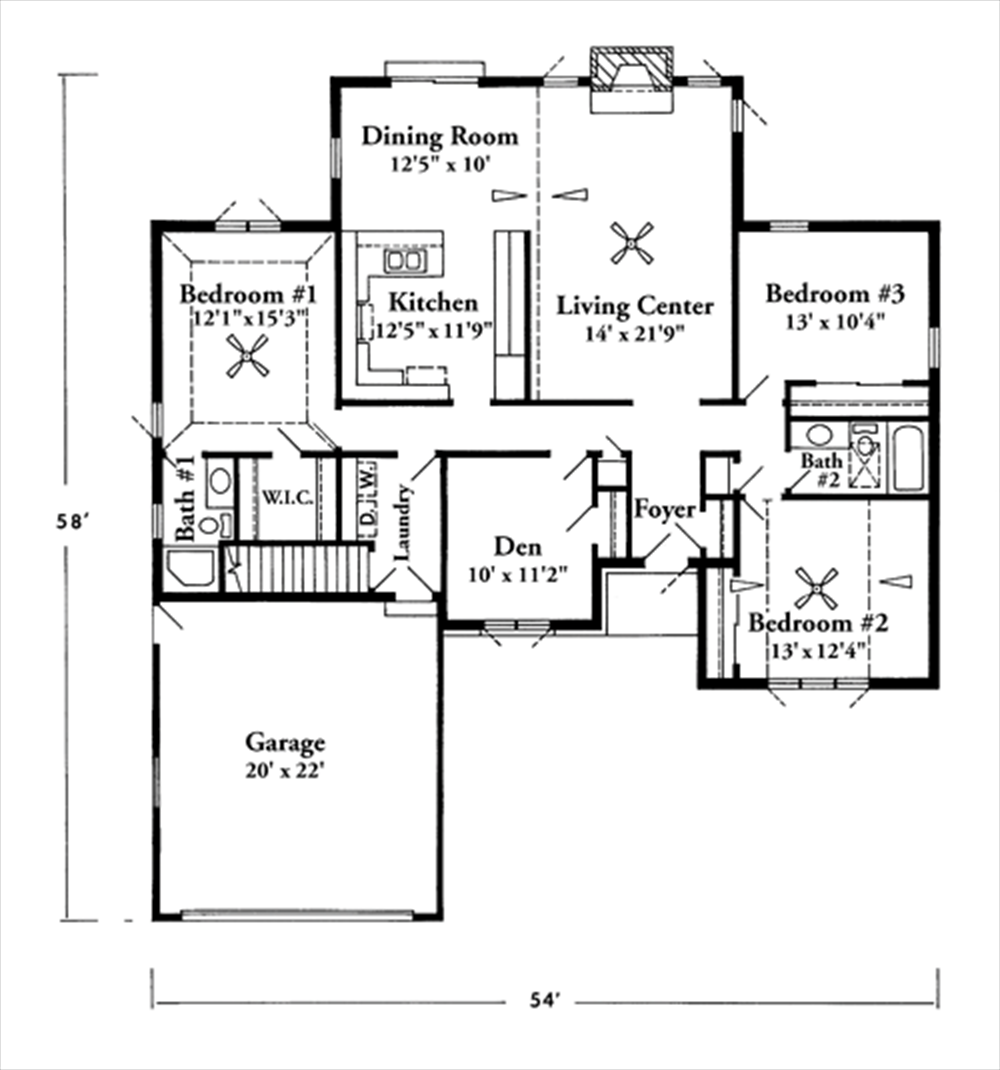 Fashionable Ideas 12 1500 Sq Ft 3 Bedroom Ranch Floor Plans For Homes Living Room Planning A Frame Home Square House Plans Floor Plans Ranch Ranch House Plans